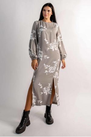 Платье «Дейли» цвета пепельного хаки