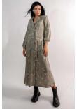 Сукня «Марві» кольору хакі з принтом