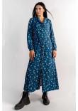 Сукня «Марві» синього кольору з принтом