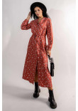 Сукня «Марві» теракотового кольору з принтом