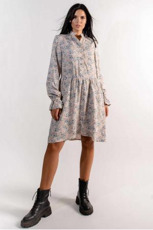Сукня «Флорі» бежевого кольору з принтом