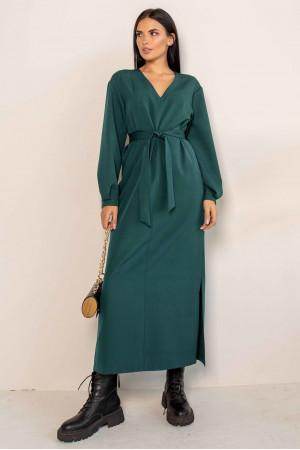 Платье «Касси» изумрудного цвета