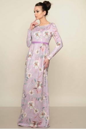 Платье «Фиона» лилового  цвета