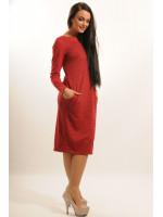 Платье «Шери» вишневого цвета