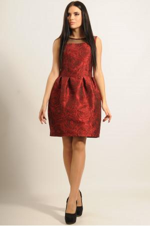 Платье «Роузи» красного цвета