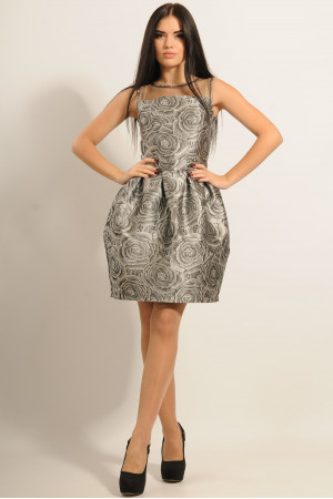 Платье «Роузи» серого цвета
