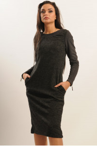 Платье «Шери» цвета графит