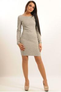 Платье «Виола» серого цвета