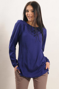 Блуза «Айрин» синего цвета