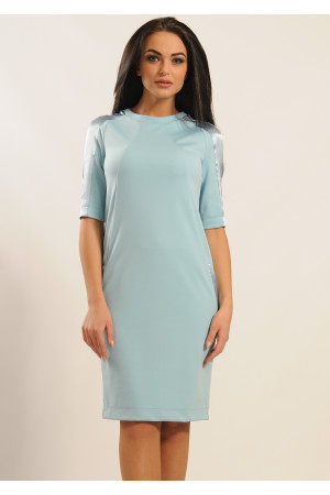 Платье «Ким» голубого цвета