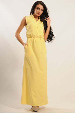 Платье «Ваниль» желтого цвета