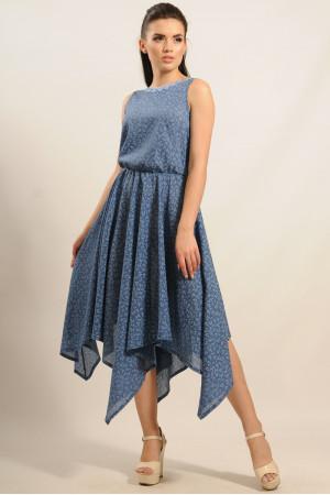 Платье «Тиара-Миди» синее