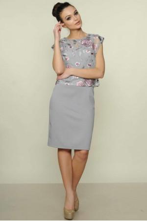 Платье «Лорен» серого цвета