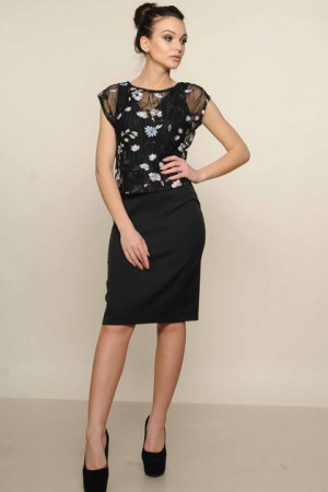 Платье «Лорен» черного цвета