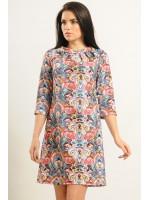 Платье «Волна» цветной принт
