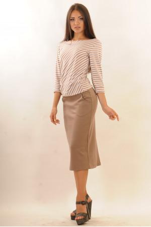 Блуза «Сіті» кольору капучино