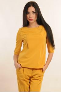 Блуза «Горчица» желтого цвета