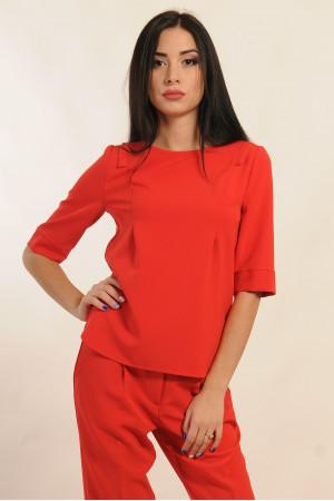 Блуза «Горчица» красного цвета