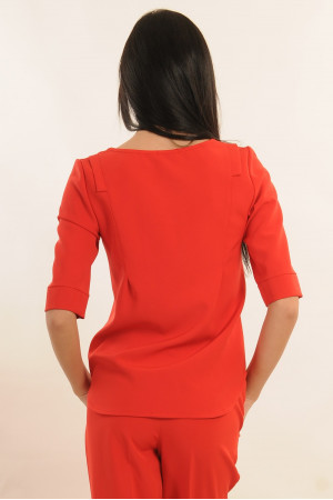 Блуза «Гірчиця» червоного кольору
