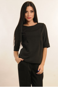 Блуза «Горчица» черного цвета