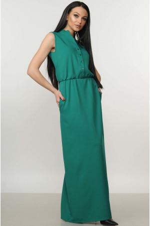 Платье «Ваниль» изумрудного цвета