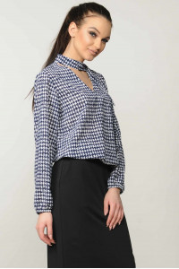 Блуза «Кенди» синего цвета