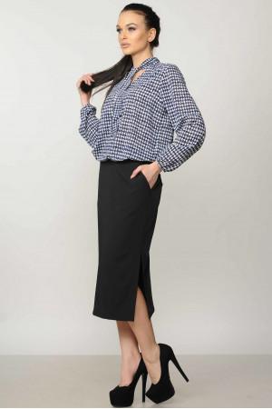 Блузка «Кенді» синього кольору