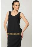 Блузка «Джой» чорного кольору