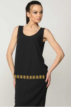 Блуза «Джой» черного цвета