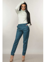Костюм «Бейс-Роу»: гольф кольору м'яти та брюки смарагдового кольору