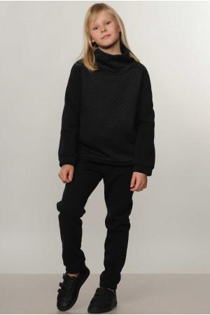 Костюм для девочки «Эйми Kids» черного цвета
