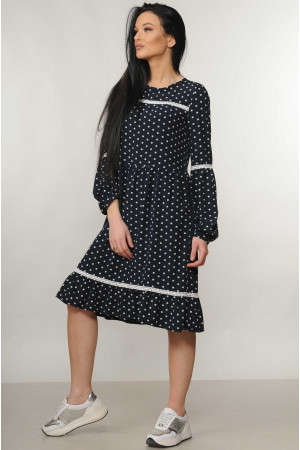 Платье «Шерил» темно-синего цвета