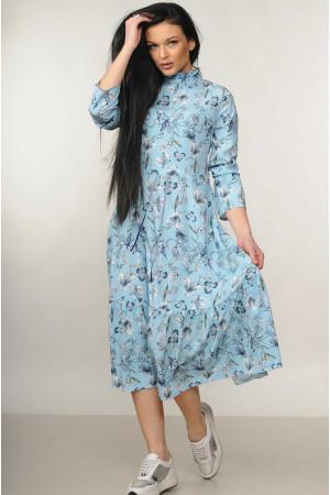 Платье «Рут» голубого цвета