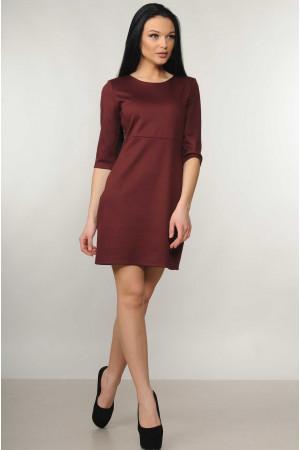 Платье «Эмили» бордового цвета