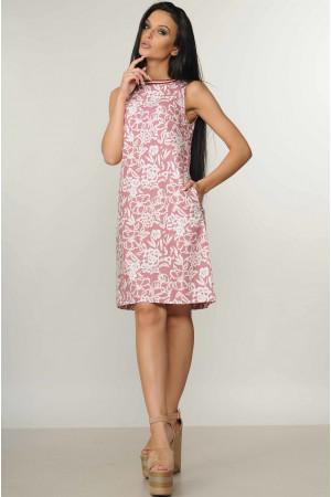 Платье «Отти» розового цвета