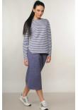 Спідниця «Дейнеріс» кольору джинс
