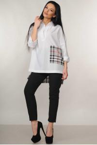 Костюм «Беатрис-Хілтон»: біла блуза і брюки чорного кольору
