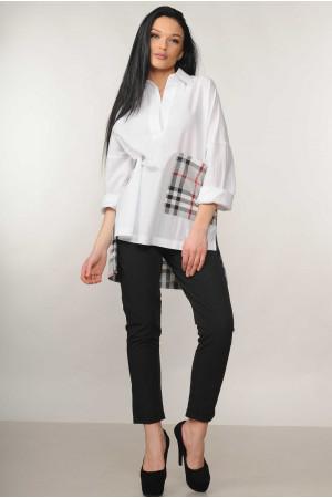 Костюм «Беатрис-Хилтон»: белая блуза и брюки черного цвета