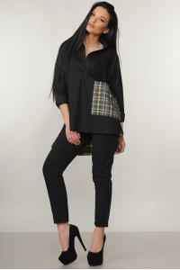 Костюм «Беатрис-Хілтон»: чорна блуза і брюки чорного кольору