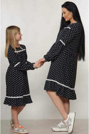 Платье «Шерил-Kids» темно-синего цвета