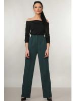 Костюм «Эшли-Марти»: черная блуза и брюки изумрудного цвета