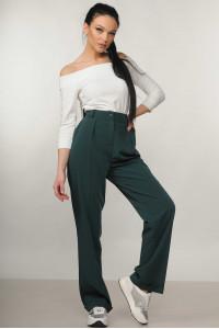 Костюм «Ешлі-Марті»: біла блуза та брюки смарагдового кольору