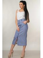 Костюм «Оливия»: белая блуза и юбка в синюю полоску