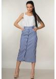 Костюм «Олівія»: біла блуза та спідниця в синю полоску