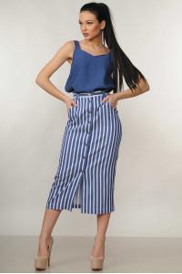 Костюм «Олівія»: синя блуза та спідниця в синю полоску