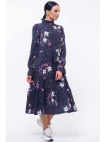 Платье «Рут» темно-фиолетового цвета
