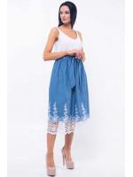 Костюм  «Хилтон-Камилла» : майка белого цвета и юбка голубого цвета