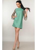 Платье «Лео» фисташкового цвета