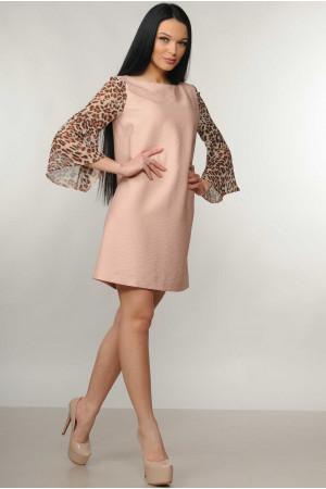 Платье «Лео» цвета пудры