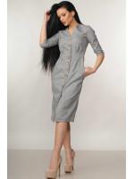 Сукня «Кіан» сірого кольору в клітинку